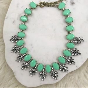 Mint Frosting Statement Necklace